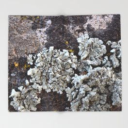 Smattering of Lichens Throw Blanket