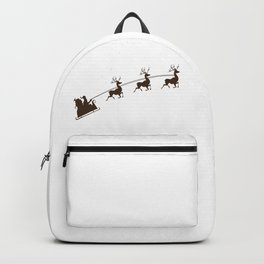 Flying Reindeers Christmas Day Backpack