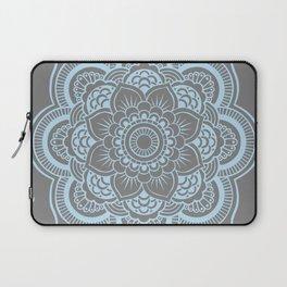 Mandala Flower Gray & Baby Blue Laptop Sleeve