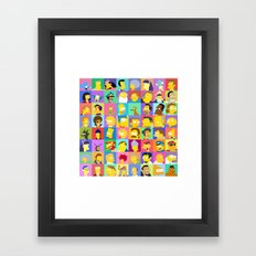 Simpsons Framed Art Print