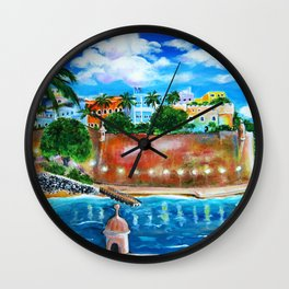 La Fortaleza, Old San Juan, Puerto Rico Wall Clock