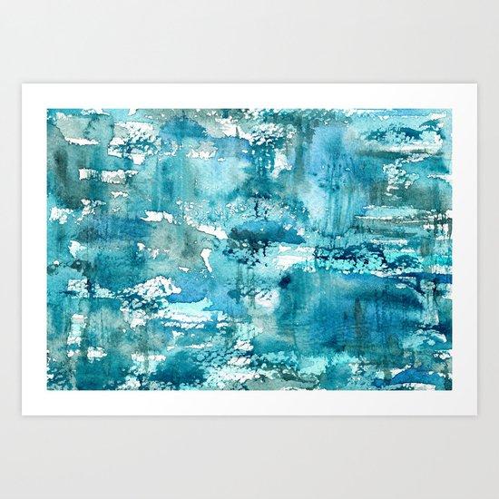 Turquoise blue passion || watercolor Art Print