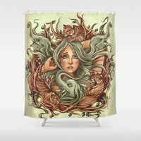 elephants Shower Curtains featuring Elephants by Heather Hitchman