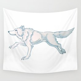 White Wolf Wall Tapestry