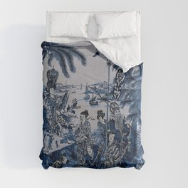 17th Century Delftware Chinoiserie Comforters