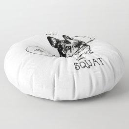 Shut Up and Squat French Bulldog Floor Pillow