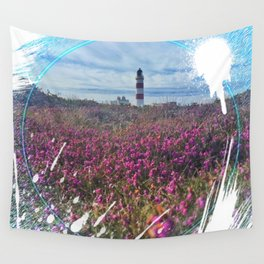 Lighthouse - paint graphic Wall Tapestry