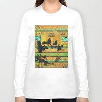 simba Long Sleeve T-shirts featuring Timon, Pumbaa & Simba. by Sara Eshak