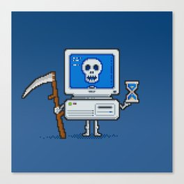 Blue Screen of Death Canvas Print