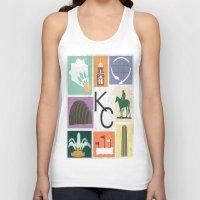 kansas city Tank Tops featuring Kansas City Landmark Print by Jenna Davis Designs
