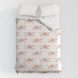 Rose Gold Dragonfly Comforters