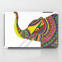 allison argent iPad Cases featuring Allison Elephant by Laura Maxwell