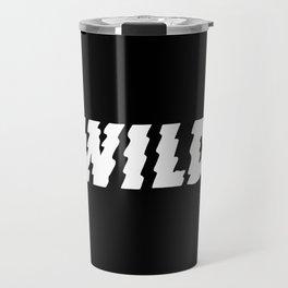 Wild – Black and White Travel Mug