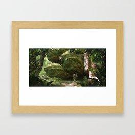 Grotte Framed Art Print
