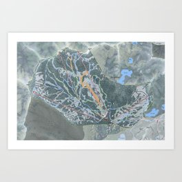 Brighton Resort Trail Map Art Print