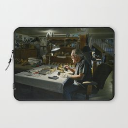 Artist and moldmaker John Billings works on the latest set of Grammy Award trophies which he crafts Laptop Sleeve