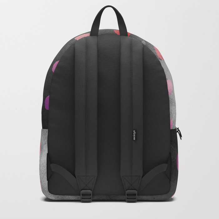 Watercolor Dot Pattern Pink Backpack