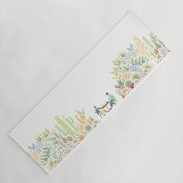 Chai and Cacti - color Yoga Mat