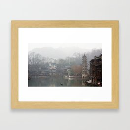 China's ancient town Framed Art Print