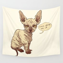 Angry Sphynx Wall Tapestry