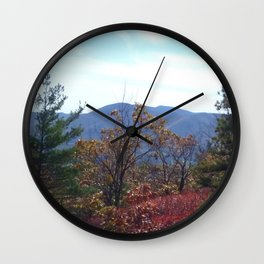 A Mountain in the Distance. Wall Clock
