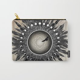 Crow Twilight Dreamcatcher Carry-All Pouch