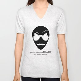 BAD EYEBROWS Unisex V-Neck
