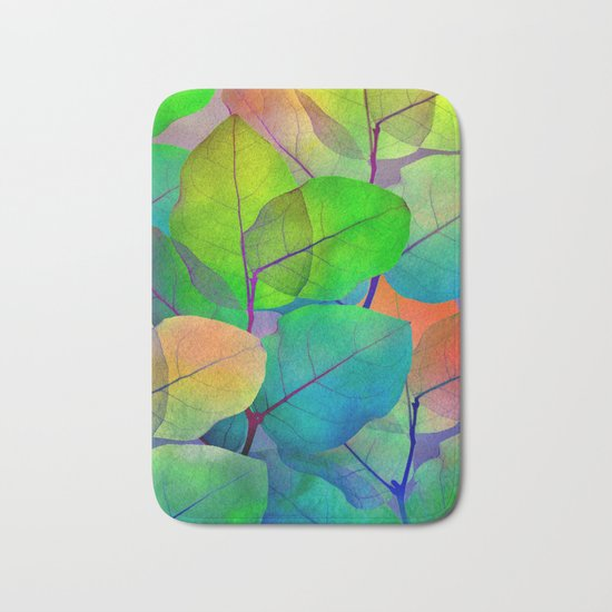 Translucent Leaves Bath Mat