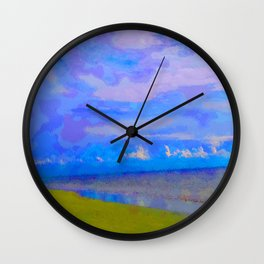 Horizon at Icacos Wall Clock