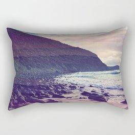 Watercolor Beach Front Rectangular Pillow
