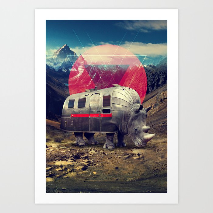 Rhino Kunstdrucke