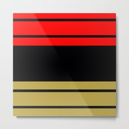 TEAM COLORS 9... black, gold and red Metal Print