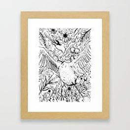 Swan and Snake Framed Art Print