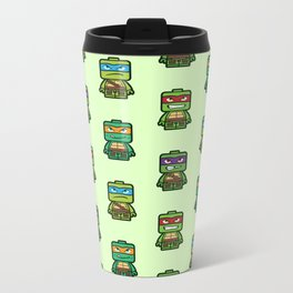 Chibi Ninja Turtles Metal Travel Mug
