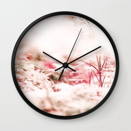 Japanese Maple Tree - Dreamy Pink White Tree - Nature Photography Wall Clock