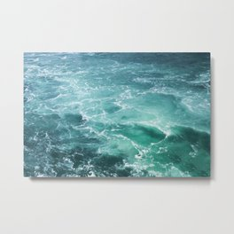 Sea Waves | Seascape Photography | Water | Ocean | Beach | Aerial Photography Metal Print