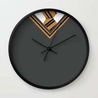 hufflepuff Wall Clocks featuring Hufflepuff Sweater by AnnouncingAmy