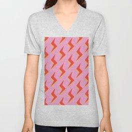 Lightning Pink  Unisex V-Neck