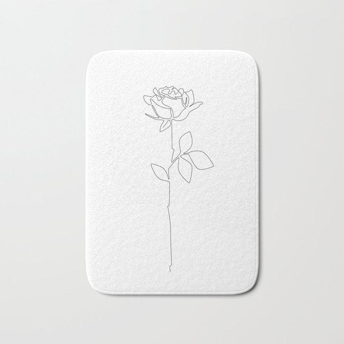 Fragile Rose Badematte