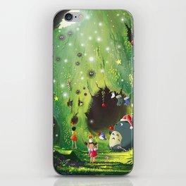 Totoro Christmas iPhone Skin
