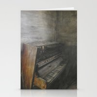 piano Stationery Cards featuring Piano by Claudia Ma