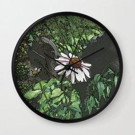Echinacea DPPA151003-14 Wall Clock