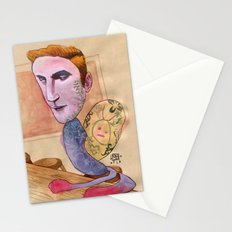TATTOOED SNAIL DUDE Stationery Cards