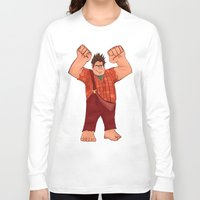 wreck it ralph Long Sleeve T-shirts featuring I'm Gonna Wreck It! by shaunaoconnor
