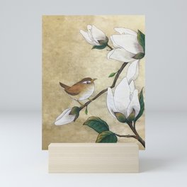 Minhwa: A Wren on the Magnolia Mini Art Print