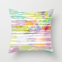 trip Throw Pillows featuring Trip by Catarina Guerreiro
