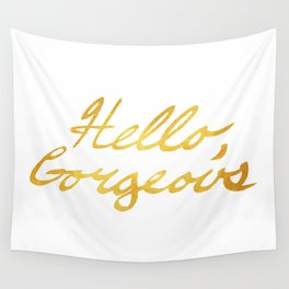 Hello, Gorgeous Gold Wall Tapestry