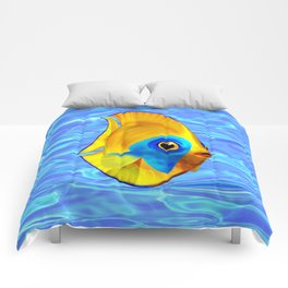 Tropical Fish on Clear Ocean Water 3D Comforters