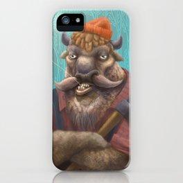 Bison Lumberjack iPhone Case