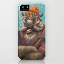 Bison Lumberjack iPhone Case